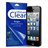 Ultimate Clear - Apple iPhone 5 Rearth Ringbo Screen Protector for [Sprint At&t T-Mobile Verizon International GSM CDMA Unlocked] Cover Film [2 PACK]
