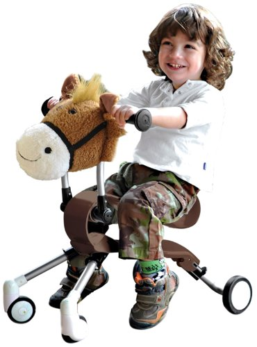 Smart Trike's new Springo™ Farm Horse -Brown is an exciting ride-on toy for toddlers aged 12 months to 3 years.