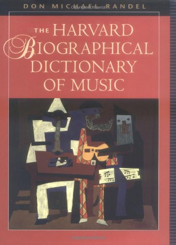 The Harvard Biographical Dictionary of Music (Harvard University Press Reference Library)