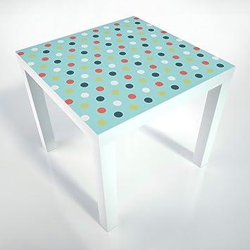 table basse pellicule de protection 55x55 cm table blanche table basse. Black Bedroom Furniture Sets. Home Design Ideas
