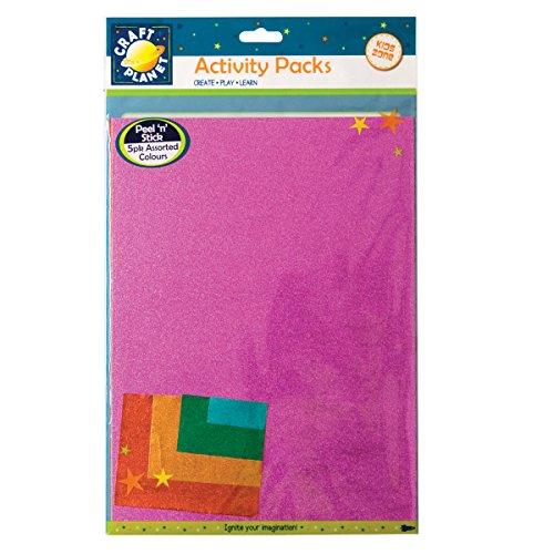 craft-planet-n-stick-supporto-magnetico-per-vernice-metallizzata-a4-set-di-5-fogli-di-carta-multicol