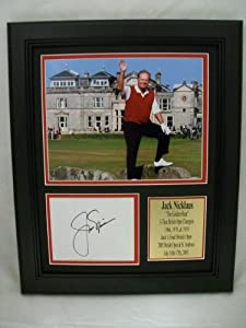 Jack Nicklaus Signed Photograph - 11x14 Framed Last British Open Reprint -... by Sports Memorabilia