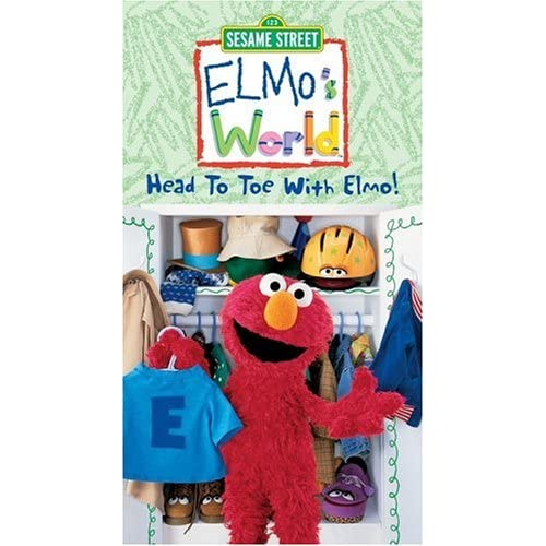 Elmos World Head To Toe With Elmo Vhs