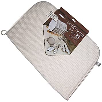 "The OriginalTM Dish Drying Mat XL Microfiber Absorbent Machine Washable Fast Drying 18""X24"" Multipurpose Extra Large"
