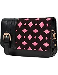 Borse Black And Pink Sling Bag