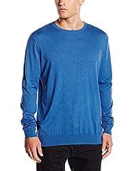 Quiksilver Men's Cotton Sweater (3613370724956_EQYSW03070_L_Victoria Blue)