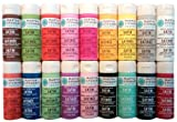 Martha Stewart Crafts Satin Paints 18-Pack, Bright