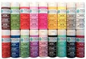 Martha Stewart Crafts Satin Paints 18-Pack, Bright