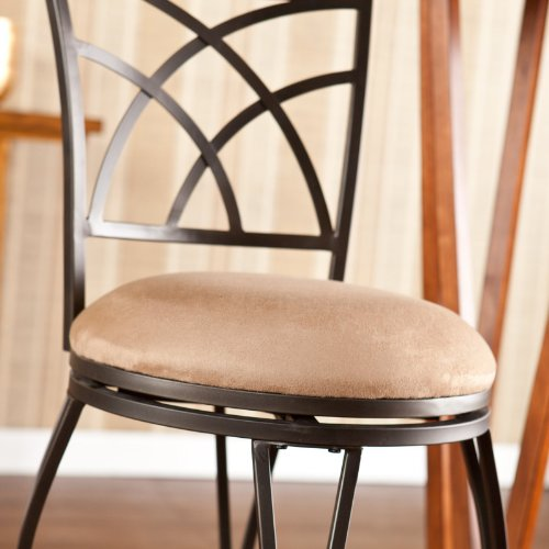 Southern Enterprises Winewood Swivel Counter Stool