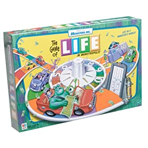Game of Life Monsters Inc. board game!