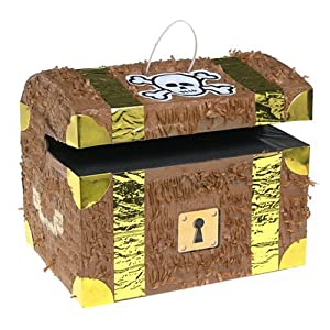 Click to buy Pirate Birthday Party Ideas: Treasure Chest pinata from Amazon!