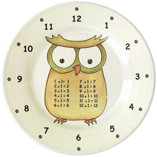 The Multiples Times Table Dinnerware Professor One Hoot 9 inch Melamine Plate