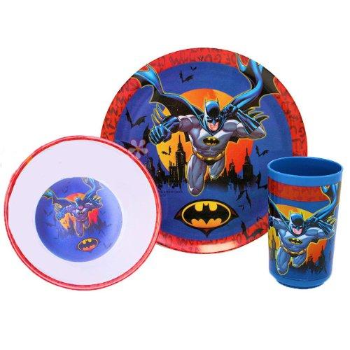 Dc Comics Batman Toddler Dining Set - Plate, Bowl, Cup