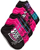 Monster High Little Girls' 5-Pack No-Show Socks