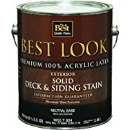 - W55T00804-16 Best Look Exterior Latex Solid Color Deck And Siding Stain