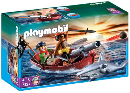 Playmobil Pirates Rowboat With Shark front-1057934