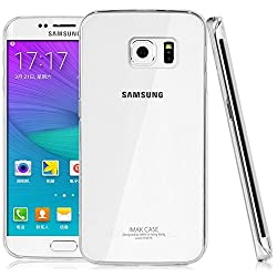 Heartly Imak Crystal Clear Hot Transparent Flip Thin Hard Bumper Best Back Case Cover For Samsung Galaxy S6 Edge+