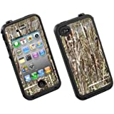 Skin Decal for Lifeproof iPhone 4/4S Case Cattail Camo Hunting Design (Case not included)