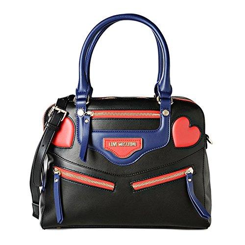 Love Moschino Borsa Calf Pu Nero/Blu/Rosso