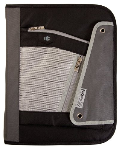 Mead Pro Platinum 1.5-Inch Zipper Binder: D-Ring, Black
