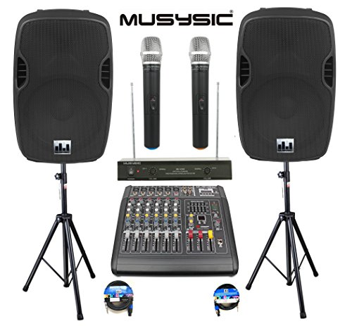 complete-professional-2000-watts-complete-pa-system-6-ch-mixer-10-speakers-dual-wireless-mics-stand
