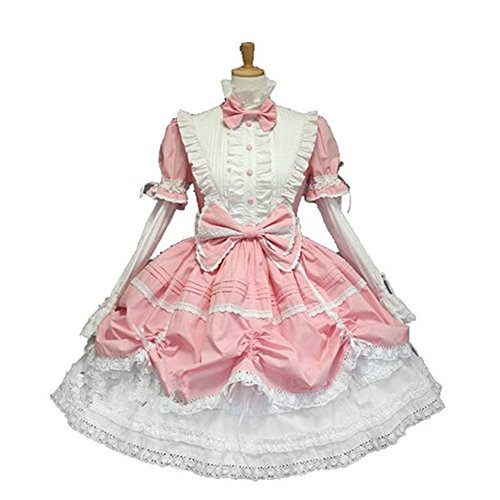 Lovely Pink Lolita Maid Dress with Bows