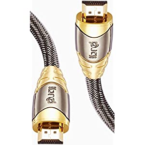 IBRA® LUXURY GOLD High Speed 2 Meter Gold Plated HDMI to HDMI cable with 3D, Ethernet and Audio Return Channel,Version 2.0/1.4a (2m/6.4ft)