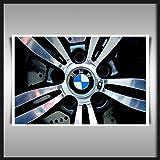 BMW M3 CAR WHEELS A4 SATIN PAPER ART PRINT