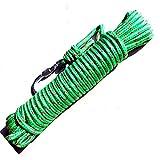 クライミング ロープ 8mm 径 全長 20m 登山 ガイロープ アウトドア サバゲー 縄 綱 (緑)