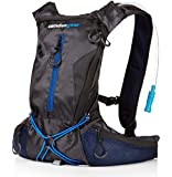 """Hydration Pack with 1.5 L Backpack Water Bladder. Fits Men and Women with Chest Sizes 27"""" - 50"""". Great for Hiking - Running - Biking - Kids"""