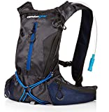 Hydration Backpack By Camden Gear. Hiking Water Pack with BPA Free 50 Oz Reservoir Bladder. Perfect for Women, Men and Kids to Go Running and Biking. Daypack Bag Includes Waist Belt with Extended Bite Valve. Good Pocket Volume for Storage