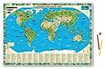 Illustrierte Weltkarte Tiere: Schreib...