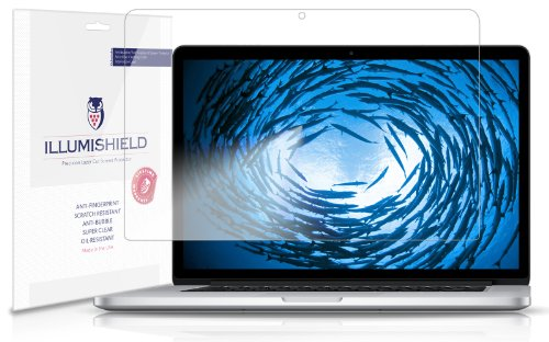 Illumishield - Apple Macbook Pro 15 Screen Protector (2013) Japanese Ultra Clear Hd Film With Anti-Bubble And Anti-Fingerprint - High Quality (Invisible) Lcd Shield - Lifetime Replacement Warranty - [1-Pack] Oem / Retail Packaging