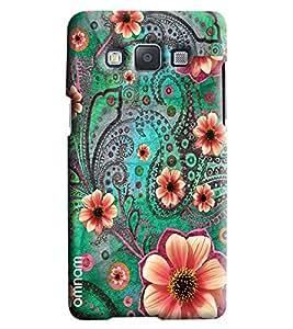 Omnam Flower Pattern Printed Designer Back Cover Case For Samsung Galaxy E7
