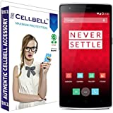 Cellbell Premium one plus one (Clear) bagtag Tempered Glass Screen Protector (Comes with Warranty,User guide,Complimentary Prep cloth)
