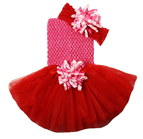 Wholesale Princess Hot Pink and Red Tutu Gift Set