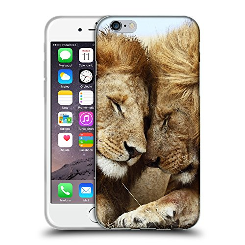 Super Galaxy TPU Gel Funda Carcasa Tapa Case Cover para // V00003958 due leoni maschi // Apple iPhone 6 6S 6G PLUS 5.5""