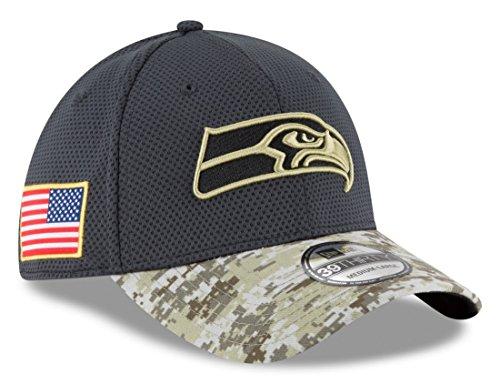 NFL 2016 Salute to Service 39thirty Flex Cap (M/L, Seattle Seahawks) (Seahawks Salute To Service Hat compare prices)