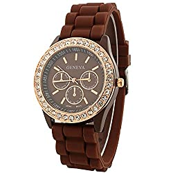 Geneva analog Brown Dial Womens Watch (g9532_D)