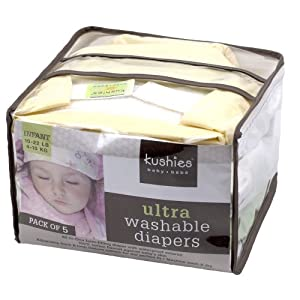 Kushies 5 Pack Reusable Ultra Diapers