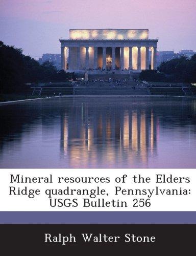 Mineral resources of the Elders Ridge quadrangle, Pennsylvania: USGS Bulletin 256
