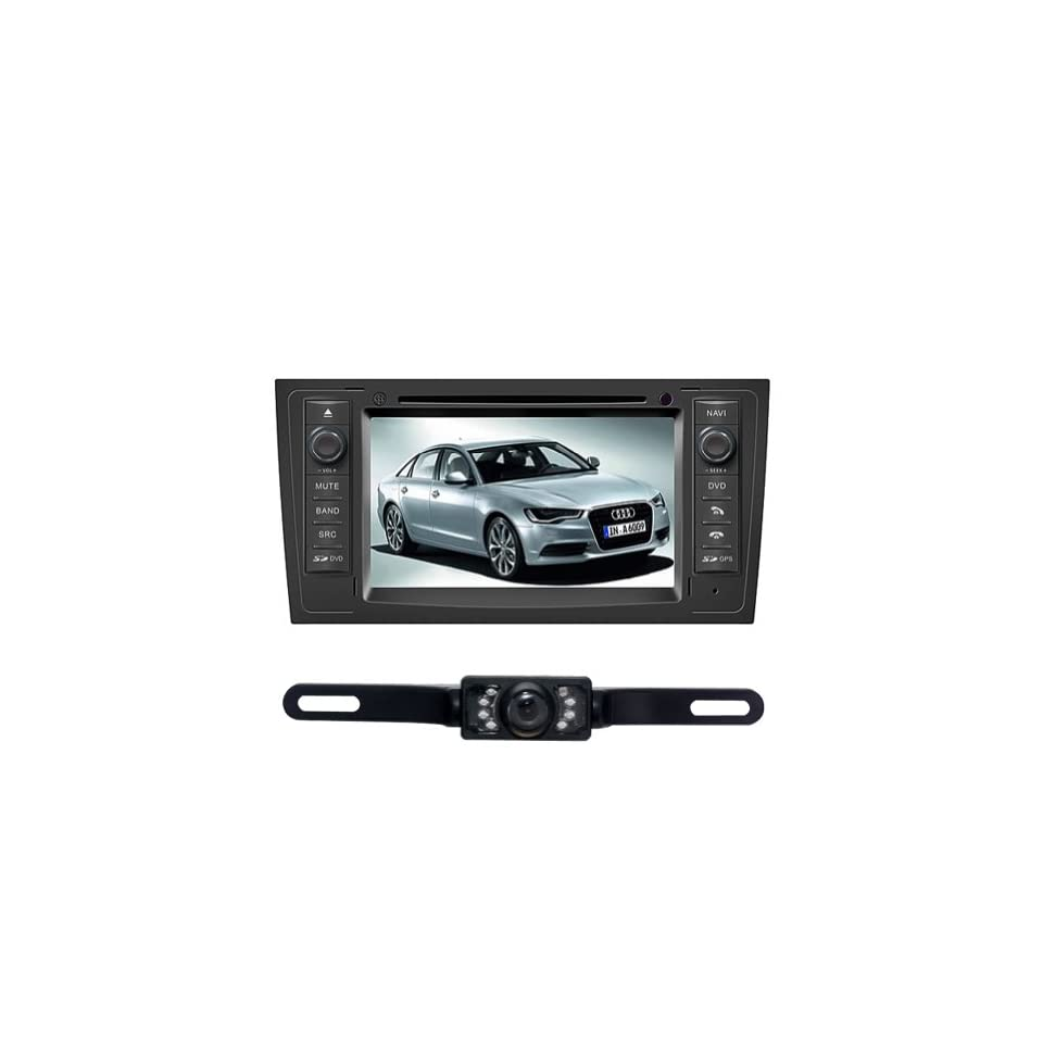 Tyso For AUDI A6 (1998 2004) 7 in dash CAR DVD Player GPS Navigation System Rear Camera Radio Ipod Bluetooth Free Map CD7902R