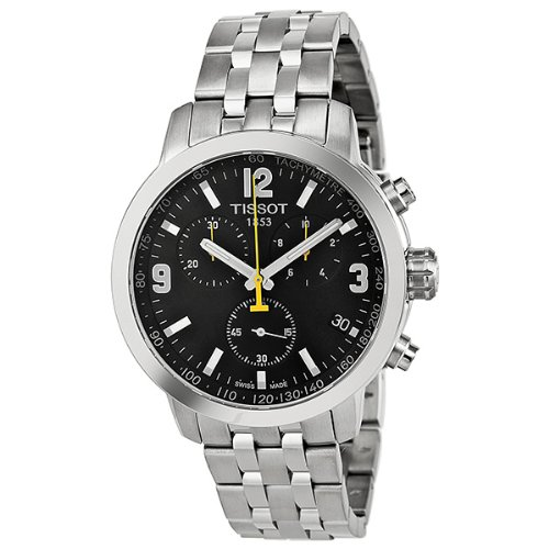 Tissot Steel Strap Black Dial Men's Quartz Watch – T055.417.11.057.00