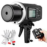 Godox AD600BM Bowens Mount 600Ws GN87 High Speed Sync Outdoor Flash Strobe Light with X1C Wireless Flash Trigger, 8700mAh Battery Pack to Provide 500 Full Power Flashes, Recycle in 0.01-2.5 Second