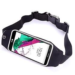 Yinuo Sport Running Waist Belt Fanny Pack Wallet Pouch Bag case for LG G5 /LG G4 / LG G3 Vigor / LG G Vista 2 / LG V10 / LG G Stylo (Black)