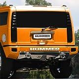 Hummer H2 Rear Bumper Chrome Letters Insert