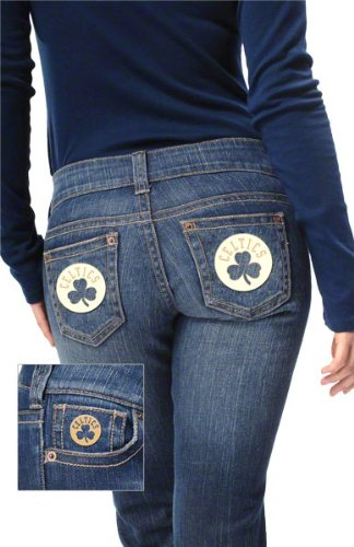 Boston Celtics Women's Denim Jeans - by Alyssa Milano at Amazon.com