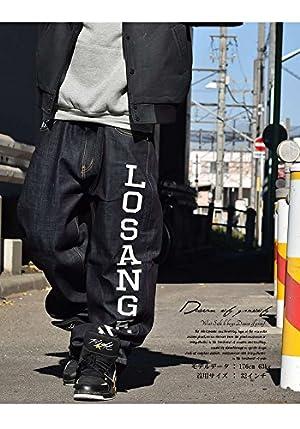 (ディーオーピー)DOP デニムパンツ ジーンズ ルーズフィット LOSANGELES 38インチ メンズ B系 ギャングスタ ウエッサイ ヒップホップ