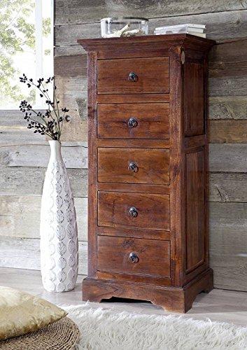 Cómoda de madera de acacia maciza muebles colonial OXFORD #433