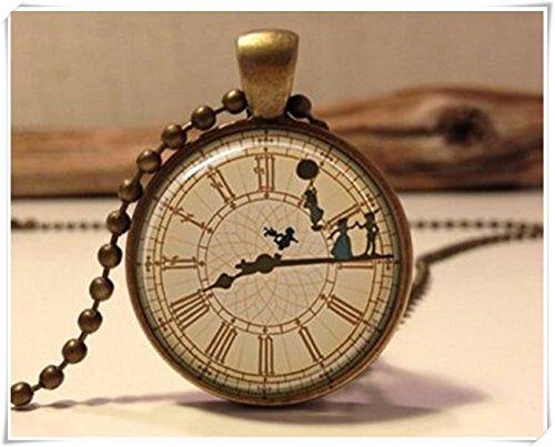Peter Pan collana.Peter Pan Gioielleria. Peter Pan Art ciondolo gioielli